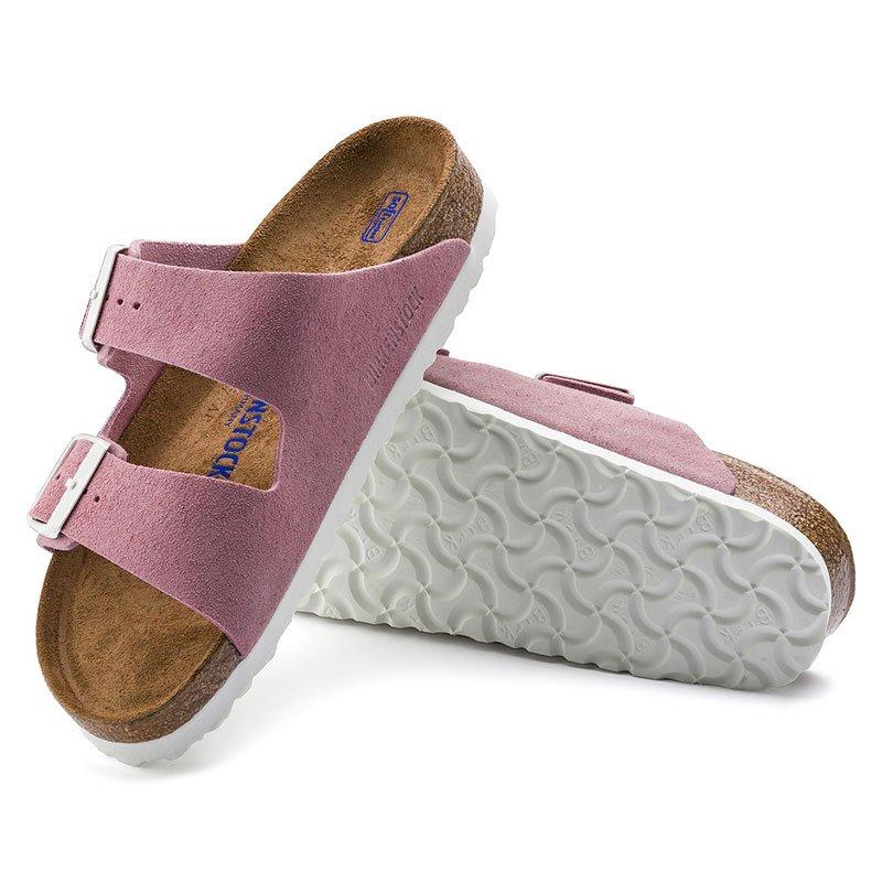 new styles 83076 2b237 BIRKENSTOCK Arizona BS | Veloursleder-Pantolette Damen Weichbettung