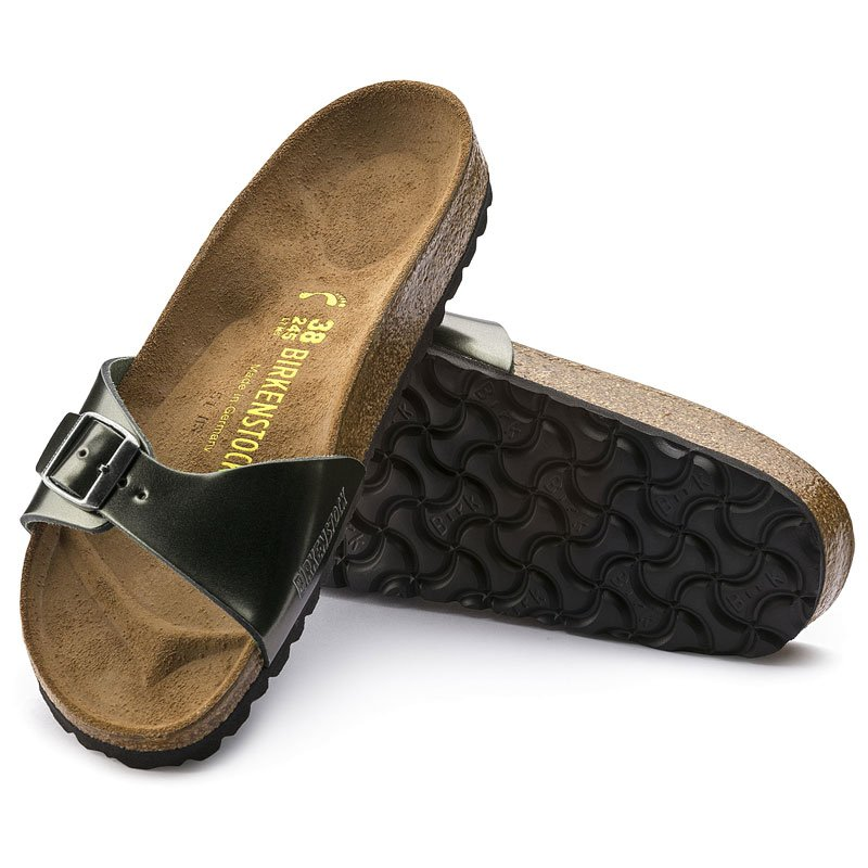 birkenstock madrid metallic leder sandalen damen 69 95. Black Bedroom Furniture Sets. Home Design Ideas