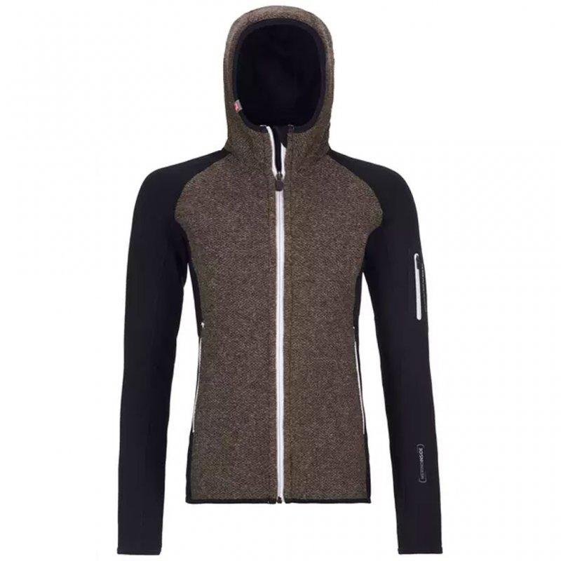 ORTOVOX Merino Fleece Plus Classic Knit Hoody Women | Woll Fleecejacke Damen mit Kapuze