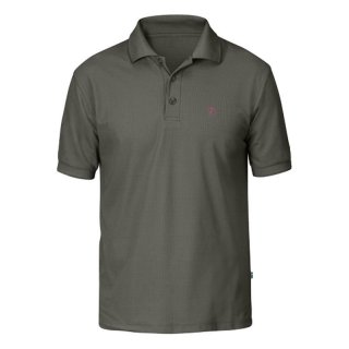 Fjällräven Crowley Pique Funktions-Poloshirt Herren mountain grey XL