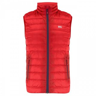 MAC IN A SAC Mens Alpine Gilet - Daunenweste Herren mit Packbeutel red 52 / L