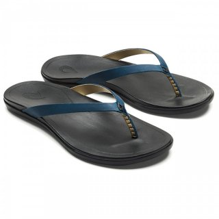 Olukai Womens Ho Opio Leather | schlichte Leder-Zehenstegsandalen Damen