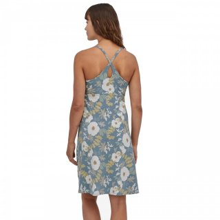 Patagonia Womens Amber Dawn Dress - Sommerkleid Damen Night Pollinators Spaced: New Navy L