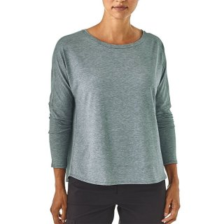Patagonia Womens Long-Sleeved Glorya Top | weit geschnittenes Langarm-Funktionsshirt Damen cave grey L