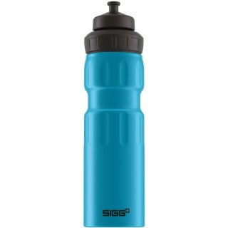 SIGG WMB Wide Mouth Sport Bottle | Sport-Trinkflasche aus Aluminium, 0,75 L blue 0,75 L