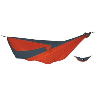 TICKETTOTHEMOON King Size Hammock - Reise Hängematte aus Fallschirm-Nylon, 320 x 230 cm orange/dark grey king size
