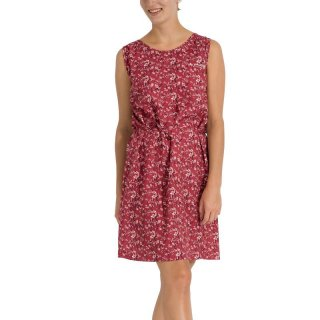VAUDE Womens Lozana Print Dress III - funktionelles Freizeitkleid/Reisekleid Damen mit Print red cluster 42 / L