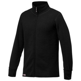 Woolpower Full Zip Jacket 400 - dicke Merinowolljacke Damen black 36 / XXS